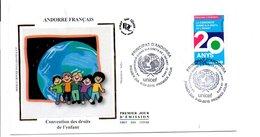 ANDORRE FDC 2010 CONVENTION DROITS DE L'ENFANT - FDC