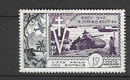 Cote Française Des Somalis 1954    Poste Aérienne      Cat Yt N° 24   N** MNH - Côte Française Des Somalis (1894-1967)