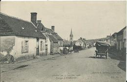 CIRCUIT DE LA SARTHE 1906 - Passage à VIBRAYE ( Pub Chaussures CROCHARD) - Le Mans