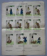 Grande Page Illustrée Gravure Münchener Bilderbogen Der Ruffe Und Der Bär Braun & Schneider N°797 Ours Miel - Prints & Engravings