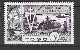 TOGO   1954    Poste Aérienne      Cat Yt N° 22   N** MNH - Côte Française Des Somalis (1894-1967)