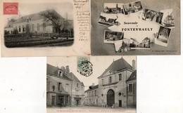 FONTEVRAULT ( 49 ) - Lot De 5 Cpa - Frankrijk