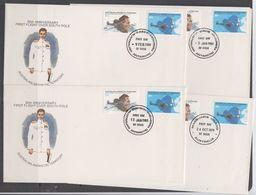 AAT 1979/1980 50th Ann. First Flight Over South Pole 2v 4 FDC (Casey, Mawson, Davis, Macquarie) (44228) - FDC