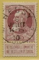 +MW-4127     *  HEUSY   *   OCB 77  Sterstempel     COBA   +15 - 1905 Grosse Barbe