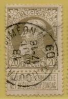 +MW-4130     *  HOUTAIN-ST-SIMEON  *   OCB 75  Sterstempel     COBA   +8 - 1905 Grosse Barbe