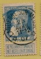 +MW-4149      *  LANDENNE SUR MEUSE   *   OCB 76  Sterstempel     COBA   +10 - 1905 Grosse Barbe