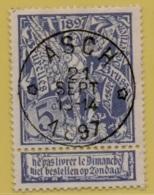 +MW-4214      *  ASCH    *   OCB 71  Sterstempel     COBA   + 8       ZELDZAAM OP DEZE UITGIFTE - 1894-1896 Expositions
