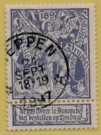 +MW-4215      *  HEPPEN   *   OCB 71  Sterstempel     COBA   + 15       ZELDZAAM OP DEZE UITGIFTE - 1894-1896 Expositions