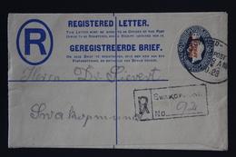 South West Africa Registered Cover NGK Nr 4 HG4  Swakopmund Local Altered German Cancel  133 * 83 Mm - Südwestafrika (1923-1990)