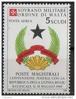 PIA - SMOM - 1989 : Convenzione Postale Con La Repubblica Della Guinea Bissau - (SAS  P.A.  A39) - Malte (Ordre De)