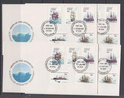 AAT 1979/1980 Ships Of The Antarctic 5v 4 FDC (Casey, Mawson, Davis, Macquarie) (44229) - FDC