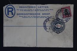 South West Africa  Uprated Registered Cover NGK Nr 9bG HG10  USAKOS  Swakopmund - Südwestafrika (1923-1990)