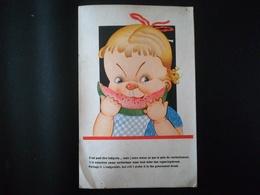 GUERRE 1939 - 1945 CARTE POSTALE HUMORISTIQUE SUR LE PAIN DU RAVITAILLEMENT ENVOYÉ DE ECAUSSINES EN  1945 - Humor