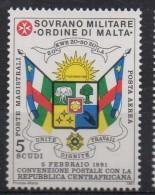 PIA - SMOM - 1991 : Convenzione Postale Con La Repubblica Centrafricana - (UN  A44) - Malte (Ordre De)