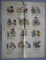 Grande Page Illustrée Gravure Münchener Bilderbogen Das Gute Fränzchen Braun & Schneider N°853 Enfants - Prints & Engravings