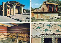 4 AK Griechenland * Knossos - Ein Antiker Ort Auf Kreta - Ansichten Vom Palast Von Knossos * - Griechenland