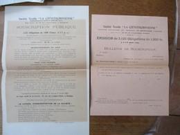"""ROUBAIX SOCIETE TEXTILE """"LA CZENSTOCHOVIENNE"""" 28 RUE DES LONGUES-HAIES SOUSCRIPTION PUBLIQUE A 3125 OBLIGATIONS DE 1000 - Shareholdings"""