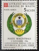 PIA - SMOM - 1987 : Convenzione Postale Con La Repubblica Di Capo Verde - (SAS  P.A.  A28) - Malte (Ordre De)