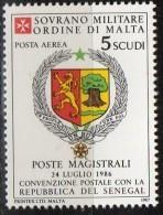 PIA - SMOM - 1987 : Convenzione Postale Con La Repubblica Del Senegal - (SAS  P.A.  A27) - Sovrano Militare Ordine Di Malta