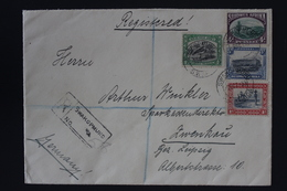 South West Africa Registered 4 Color Cover Swakopmund  -> Zwenkau Germany 9-10-1933 - Südwestafrika (1923-1990)