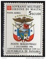 PIA - SMOM - 1987 : Convenzione Postale Con La Repubblica Di Panama - (SAS  P.A.  A29) - Sovrano Militare Ordine Di Malta