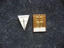 2 Pin's RELIGIEUX: Servir - Non Classés