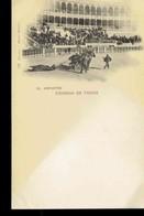 CPA.  *EL ARRASTRE* *CORRIDA DE TOROS*  VERS 1898*  .*. - Corrida