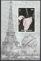 Guinea 1998 Charlie Chaplin  Nomine Chevalier Sheet Nuovo MNH - Attori