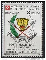 PIA - SMOM - 1988 : Convenzione Postale Con La Repubblica Dello Zaire - (SAS  P.A.  A35) - Sovrano Militare Ordine Di Malta