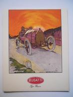 Carte De Voeux 1968 Avec Illustration Bugatti Type Brescia Par Georges Bourdin - Mappe
