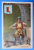 CHROMO DOREE...PARIS ...AUX PHARES DE LA BASTILLE.......LE SAVETIER....A LA BOTTE DOREE - Autres