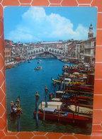 VENEZIA Canal Grande Ponte Rialto CARTOLINA  Viaggiata - Venezia