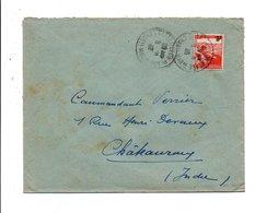N° 750 SEUL SUR LETTRE DE CHATELAILLON PLAGE 1946 - Marcophilie (Lettres)