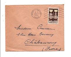 N° 927 SEUL SUR LETTRE DE BOURG SAINT MAURICE 1952 - Marcophilie (Lettres)