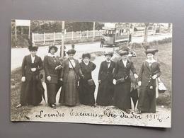 LOURDES - PIC DU JER - CARTE PHOTO SOUVENIR 1914 - TRAMWAY - Lourdes