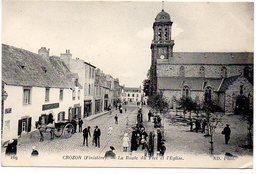 Crozon : La Route Du Fret Et L'église - Crozon