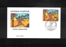 New Caledonia 2002 Cricket FDC - Cricket