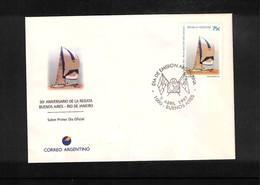 Argentina 1997 Sailing - 50 Years Of The Regatta Buenos Aires - Rio De Janeiro FDC - Segeln
