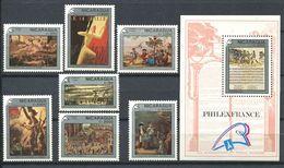 250 NICARAGUA 1989 - Yvert 1515 A 1308/13 BF 193 - Revolution Francaise Philexfrance - Neuf ** (MNH) Sans Charniere - Nicaragua