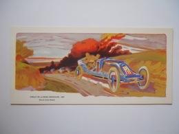 Carton Lithographié Circuit De La Seine Inférieure 1907 Szisz Ernest Montaut - Voitures (Courses)