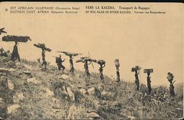 GEA RUANDA URUNDI 1918 ISSUE PPS STIBBE 12 VIEW 6 UNUSED - Entiers Postaux