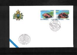 San Marino 2002 Motorbikes Races FDC - Mountain Bike