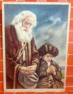 Anziano Con Bambino - Opera Nazionale Pro Derelitti Padre Guido Cartolina Non Viaggiata - Cristianesimo