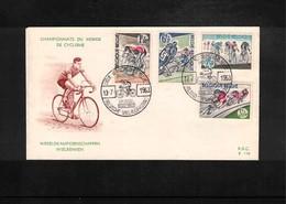 Belgium 1962 World Cycling Championship FDC - Radsport