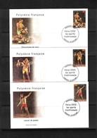French Polynesia 2002 Local Sports FDCs - Briefe U. Dokumente
