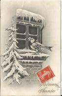 JOYEUX NOEL WEIHNACHTEN CHRISTMAS ILLUSTRATEUR   BONNE ANNEE FENETRE NEIGE OISEAU SAPIN 1919 - Santa Claus