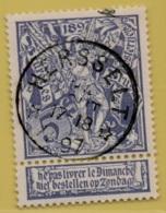 +MW-4224      *  HERSSELT  *   OCB 71  Sterstempel     COBA   + 15       ZELDZAAM OP DEZE UITGIFTE - 1894-1896 Expositions