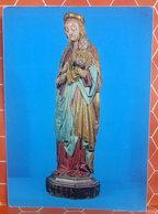 Madonna Col Bambino - Statua Lignea Mostra Arte Sacra SUSA 8Torino) 1972 Cartolina Non Viaggiata - Quadri, Vetrate E Statue