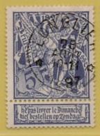 +MW-4231      *    LONGLIER  *   OCB 71  Sterstempel      COBA   + 15      ZELDZAAM OP DEZE UITGIFTE - 1894-1896 Expositions