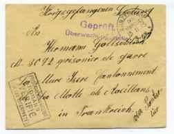 WW1 / Lettre Adressée Au Camp De Prisonniers De ROMANS / Marque De Vérification Par Les Interprêtes Du Camp / Nov 1915 - Marcophilie (Lettres)